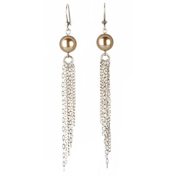 Florence Long Chain Earrings :  swarovski femme vintage gothic